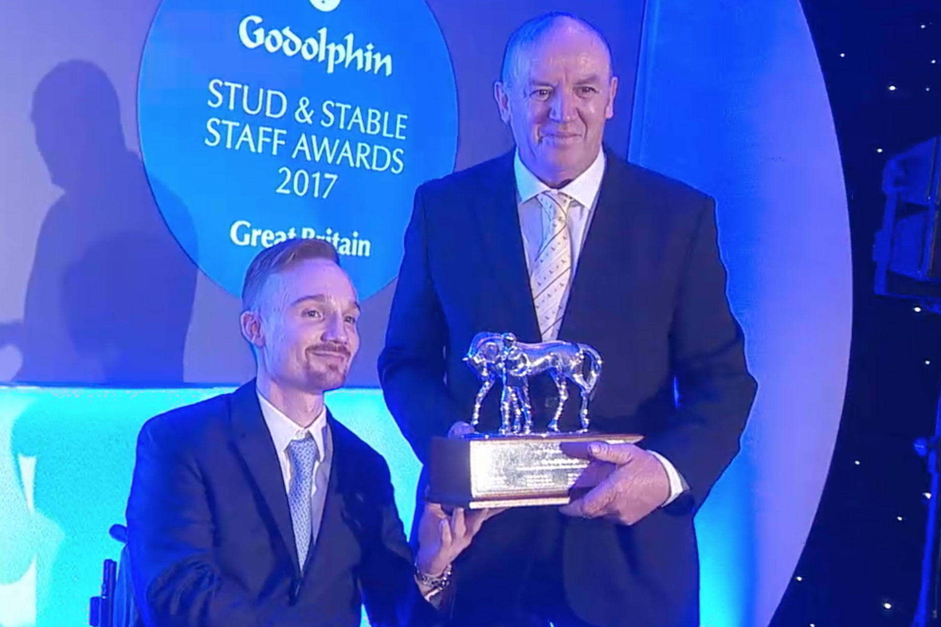 Terry Doherty of Watership Down Stud crowned employee of the year at Godolphin Stud and Stable Staff Awards 2017